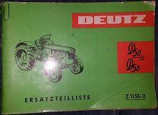 Deutz Schlepper D50 S + D55 Ersatzteilliste