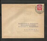 GERMANY 1936 COVER GLASHUTTE TO HEIDENAU, UHREN,RESCHENMASCHINEN CANCEL