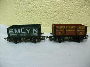 Open Wagon 'Emlyn'/'Chance & Hunt' x 2 By Hornby No R.118/R.206 '00' Light Use