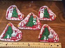 Coca Cola Christmas Polar Bears Fabric Iron Appliques   COKE Xmas