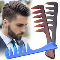 Men Wide Tooth Comb Salon Barber Hairdressing Styling Hair Brush Professional