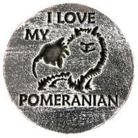 "Plastic Pomeranian dog mold garden plaster concrete casting mould 7.75"" x 3/4"""