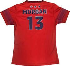 Alex Morgan USA Soccer YOUTH GIRL'S V-Neck Jersey Red NWT