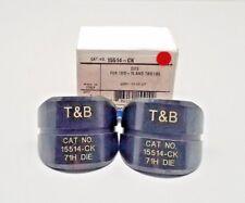 New Thomas & Betts 15514-Ck Hex Die W/ Die Code 71H Red Greenlee Burndy 15 Ton