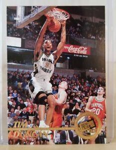 Tim DUNCAN Rookie 1997 Press Pass #1 / Spurs / HOF/ Mint