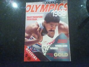 Olympics 1988. Official British Athletics publication in good condition