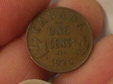 1920 Canadian Small Cent, Penny, Canada Cent Penny