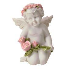 Dekofigur Engel mit Rosen Deko Figur Engelchen niedlich Rosenkranz kniend
