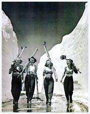Bikini Clad Girls Gone Skiing Vintage Ski Poster..Reproduction Free ship in USA!