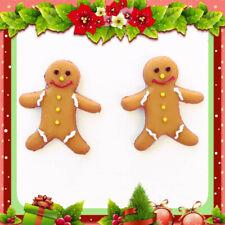 Stud Earrings Gingerbread Man Christmas