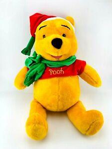 "Vintage 2001 | Christmas Winnie The Pooh Plush 24"" | Disney Mattel Fisher Price"