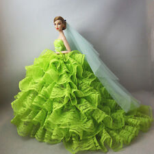 Fashion Royalty Princess Dress/Clothes/Gown+Veil For Barbie Doll F04