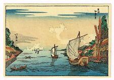 1930's Japan Japanese Woodblock Wood Block Print Vintage Old Antique  #04