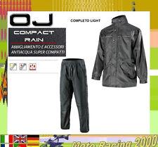 Antipioggia moto OJ SYSTEM SET VERDE leggero e compatto giacca e pantaloni 2XL