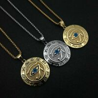 Ancient Egyptian Eye Of Horus Ra Pendant Necklace Eagle Gold Silver Chain Women