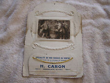 Vintage Antique French France Advertisement H. Caron Pierrelaye