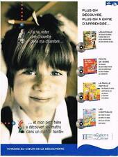 PUBLICITE ADVERTISING   2000   HACHETTE   jeux éducatifs