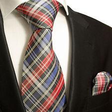 Bunte Krawatten Set 2tlg 100% Seide Schottenmuster 636