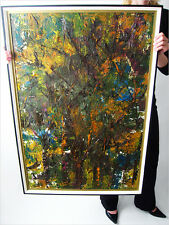 1975 LOUISE FONTAINE SIGNED ABSTRACT EXPRESSIONISM ACTION OIL PAINTING EAMES