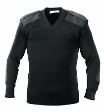 Rothco G.i. Style Acrylic V-neck Sweater Black 2xl