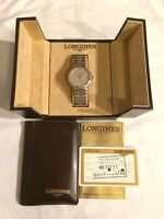 Vintage Fantastic Swiss LONGINES Conquest Li V.H.P. Quartz Mens Dress Watch