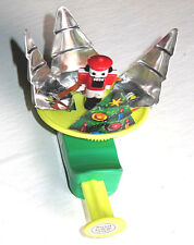 Vintage 1950's TIN LITHO CHRISTMAS TREE SPINNING TOY Mint! w/Soldier Toy JAPAN