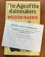 The Age of the Rainmakers by Wilson Harris - First Edition - Complimentary Copy