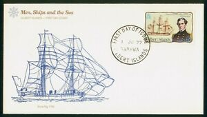 Mayfairstamps Gilbert Islands FDC 1977 Snow Rig Capt C Wilkes First Day Cover ww