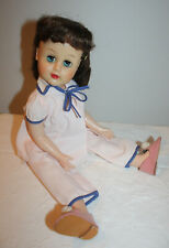 """VINTAGE 18"""" 1950'S DOLL VINYL FACE UNMARKED AMAZING CONDITION"""