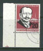 BRD Mi-Nr. 266 Ecke 3 - Eckrand - gestempelt