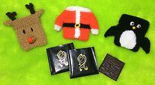 Knitting Pattern-Natale copre Menta-dopo otto-Pinguino, Renna, Giacca