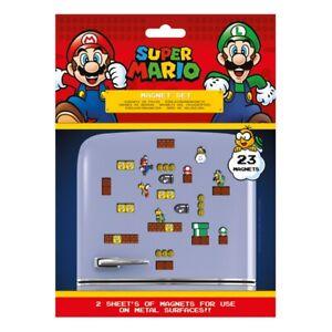 Set of 23 Genuine Super Mario Mushroom Kingdom Fridge Magnets Set Gaming