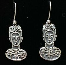 Mexican Sterling Silver Frida Kahlo Earrings