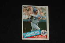 KEN LANDREAUX 1985 TOPPS SIGNED AUTOGRAPHED CARD #418 LOS ANGELES DODGERS