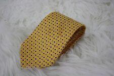 Polo Ralph Lauren Mens Yellow Paisley Print Hand Made Silk Neck Tie USA