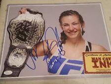 Miesha Tate Signed 11x14 Photo JSA COA  Sexy UFC MMA with inscription