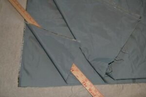 """Acetate apparel fabric, 61"""" x 9+ yards, gray.  Stiff, for lining or light jacket"""