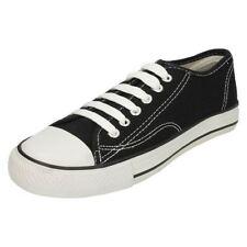 Chaussures noires à lacets en toile pour garçon de 2 à 16 ans