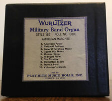 Wurlitzer Military Band Organ Roll, Style 165, #6809.  American Marches!
