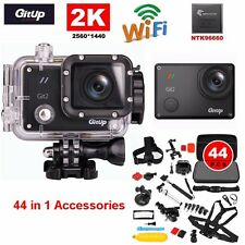 Gitup Git2 2K Wifi HD 16MP Sports Action Camera Waterpoof+44Pcs Accessories Kits