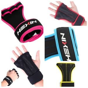 HEXIN Fingerless Gel Padded Workout Cross-Training Fitness Gloves (XS - XL)