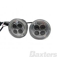 LED Daytime Running Light Kit Round 12V 4W 4 x 1W LED's & 0.5W x 2 LED's IP65
