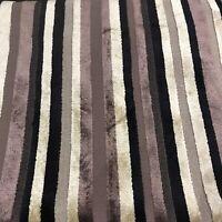 Harlequin Upholstery  Fabric Vermont Napa 2.3 METRES (230cm) Striped Cut Velvet