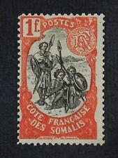 CKStamps: Somali Coast Stamps Collection Scott#61 Mint H OG Wrong Color