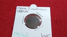 FRANCE CERES - 2 CENTIMES - 1889 A - OLD FRENCH COIN - REF15142