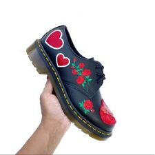 NEW! Dr. Martens 1461 Black Sequin Hearts Floral Embroidery SOLD OUT Oxfords 6.5