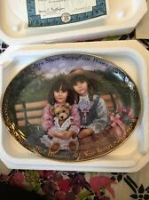 "EUC Bradford Exchange Plate ""Sisters Share Springtime Hopes "" By Chantal Poulin"