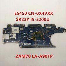 For Dell E5450 Laptop Motherboard CN-0X4VXX SR23Y I5-5200U LA-A901P 100% Tested