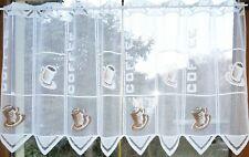 """Lamellen """"Coffee"""" Tassen Scheibengardine weiß, rot, braun 50x14cm Kurzgardine `K"""