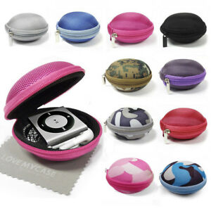 Fabric Clamshell Mp3 Player Case For Apple iPod Shuffle 2nd, 3rd, 4th Generation